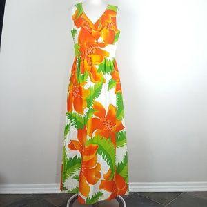 Dresses & Skirts - *Vintage Malia Honululu Hawaiian Floral Maxi Dress